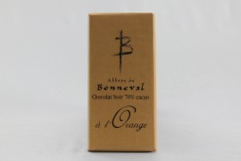 Chocolat Noir 70 % de cacao à l'Orange