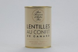Lentilles au confit