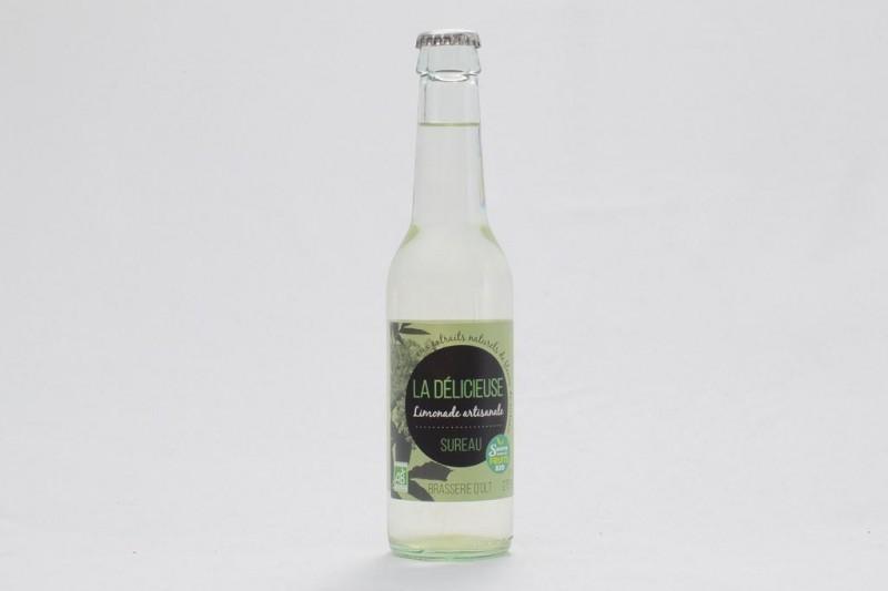 """Limonade Bio """"La Délicieuse"""" Sureau 27,5 cl"""