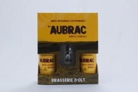 Coffret bière blonde 2x33cl + 1 verre Aubrac