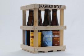 Coffret cadeau en bois 6 bières