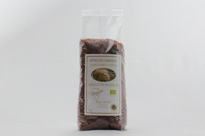 Riz long rouge complet Bio de Camargue - 1 kg
