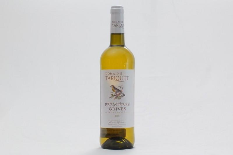 Vin Blanc Tariquet Premières Grives Côtes de Gascogne IGP