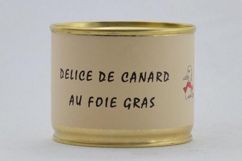 Délice de canard au foie gras (40%)