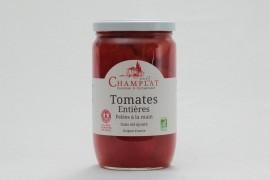 Tomates entières pelées à la main Bio