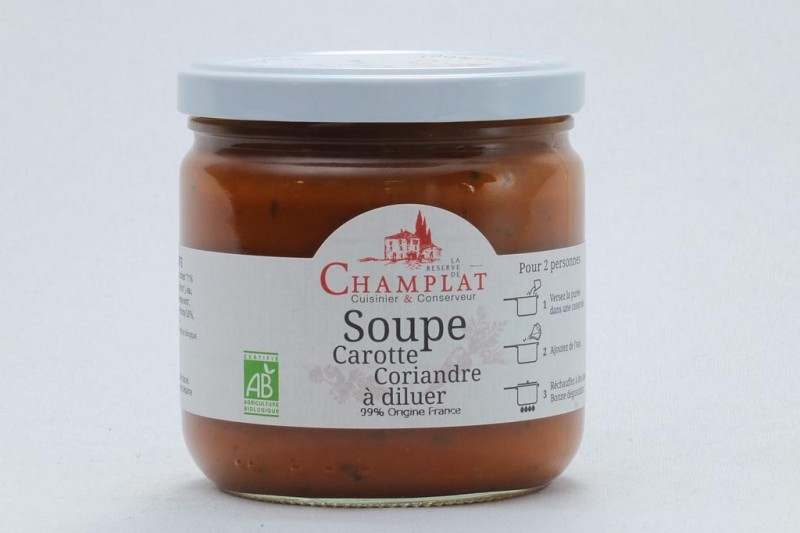 Soupe Carotte-Coriandre à diluer Bio