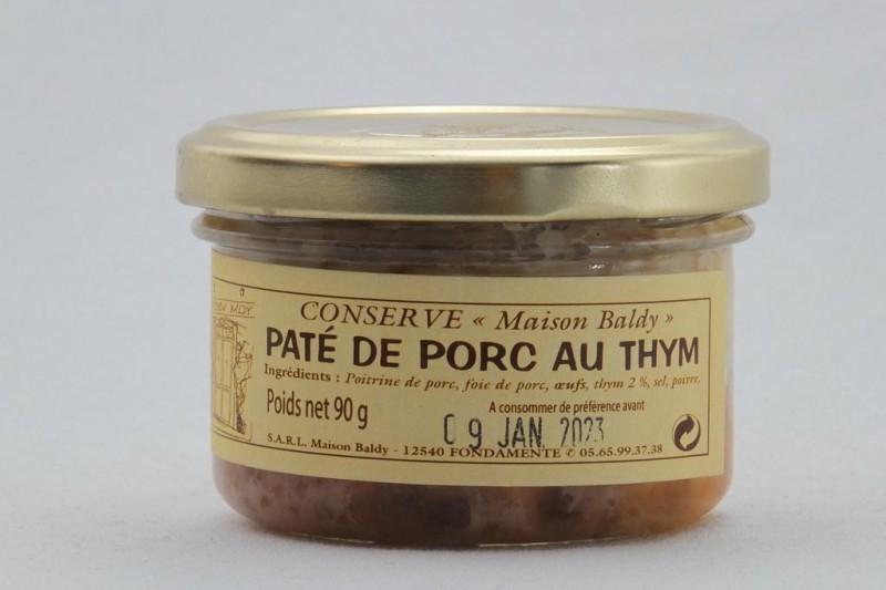 Pâté de Porc au Thym - 90 g